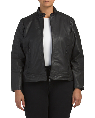 Plus Chanel Stitch Leather Jacket