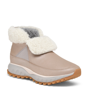 All Terrain Waterproof Shearling Lined Leather Boots