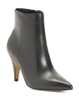 Pointy Toe Leather Boots