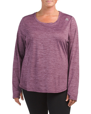 Plus Active Peached Long Sleeve Top
