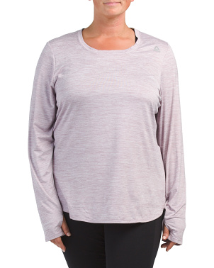 Plus Active Peached Legend Long Sleeve Top