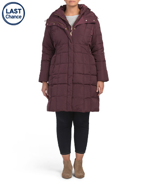 Plus Quilted Puffer Down Coat