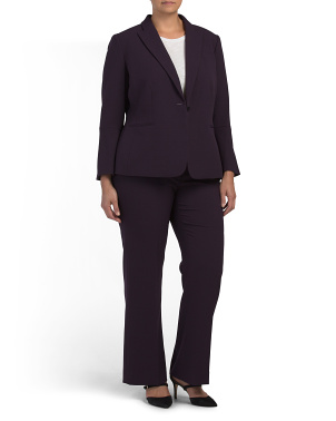 Plus Pebble Crepe Pantsuit