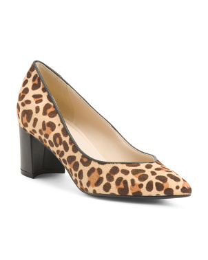 Pointy Toe Haircalf Pumps