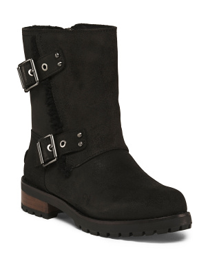 Leather Shearling Lined Boots