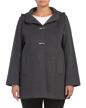 Plus Made In Italy Wool Blend Coat
