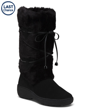 Made In Italy Suede And Shearling Winter Boots
