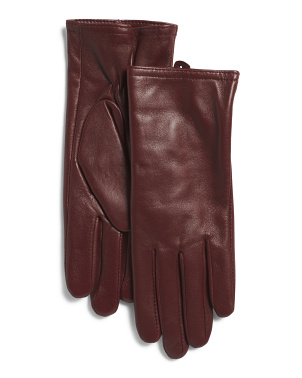 Leather Gloves With Thinsulate Insulation
