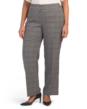 Plus Plaid Classic Pants
