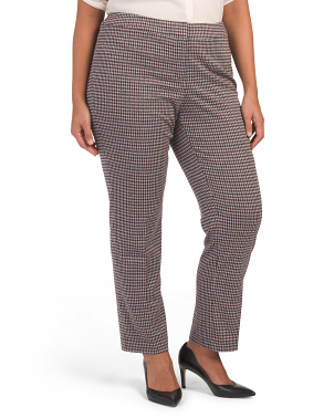 Plus Skinny Houndstooth Pants