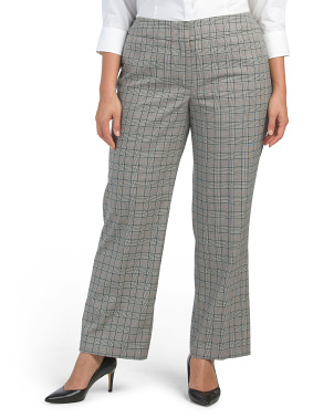 Plus Plaid Pants