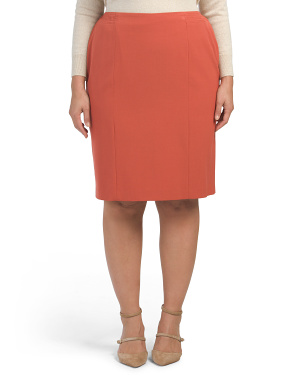 Plus Slim Skirt
