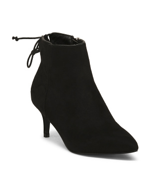 Pointy Toe Kitten Heel Booties