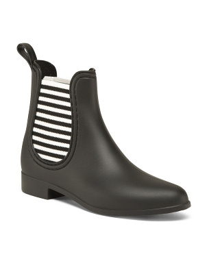 Striped Gore Rain Booties