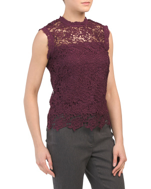 Lace Zip Back Top