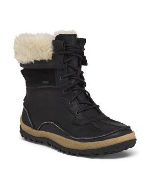 Insulated Waterproof Leather Boots