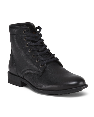 Low Leather Combat Boots
