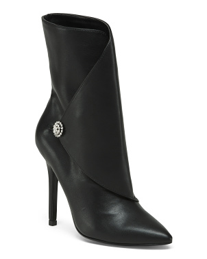 Pointy Toe Stiletto Heel High Ankle Booties
