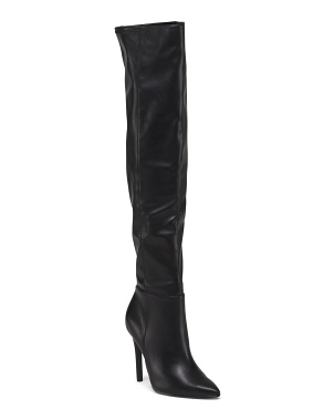Over The Knee Pointed Toe Boots