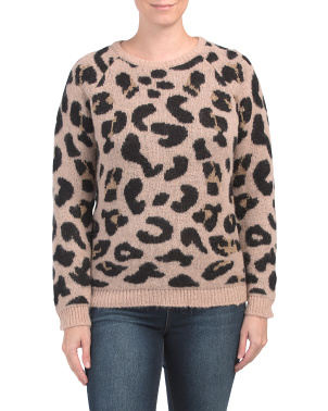 Made In Italy Animal Jacquard Sweater