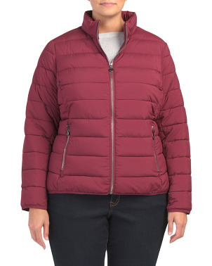 Plus Mid Weight Packable Puffer Coat