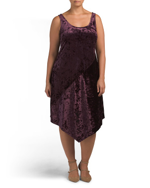 Plus Asymmetrical Kelsie Velvet Dress