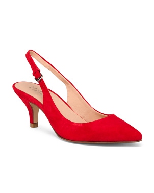 Made In Italy Slingback Suede Pumps