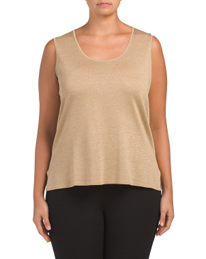 Plus Scoop Neck Tank