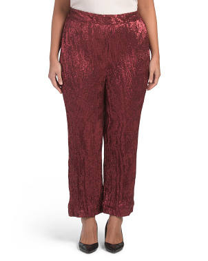 Plus Sequin Woven Pants