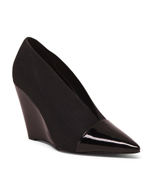Stretch Pointy Toe Wedges