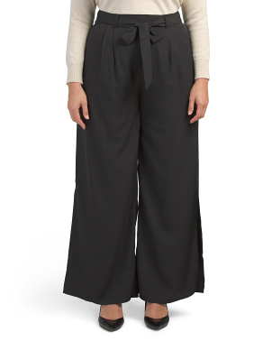 Plus Stretch Woven Palazzo Pants