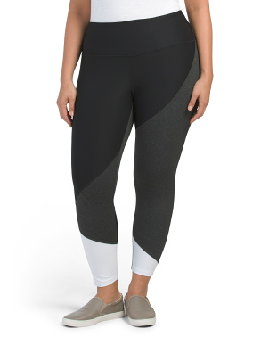 Plus Active Color Block  Leggings