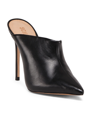 Made In Brazil Stiletto Heel Leather Mules
