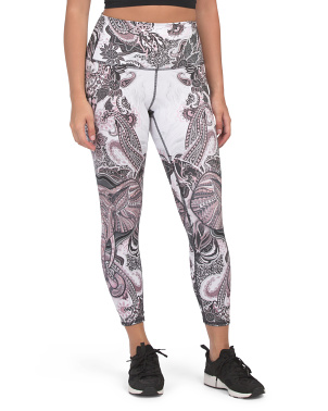 High Waist Elephant & Paisley Leggings