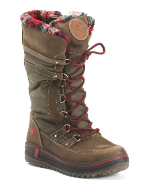 Tall Shaft Insulated Waterproof Leather Boots