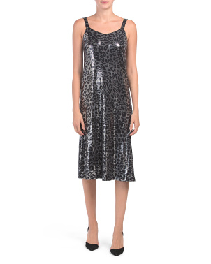 Made In Italy All Over Sequin Leopard Dress