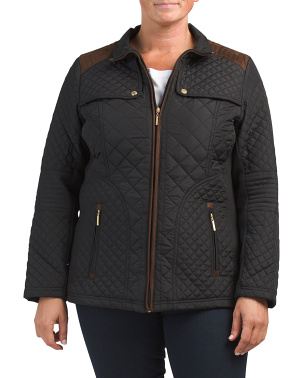 Plus Quilted Moto Jacket