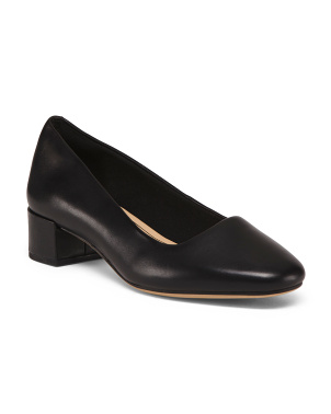 All Day Comfort Leather Pumps