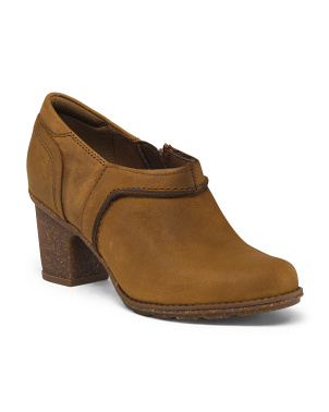 Leather Comfort Booties