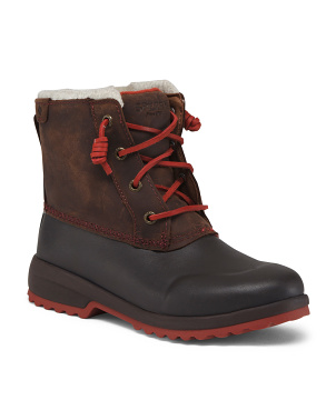 Insulated Waterproof Leather Cold Weather Boots