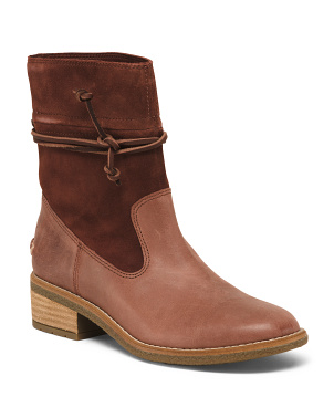 Premium Leather And Suede Boots