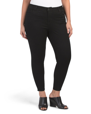 Plus Donna High Rise Ankle Skinny Jeans