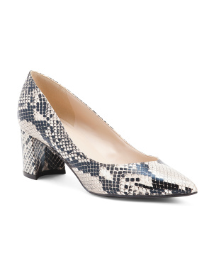 Snake Pointy Toe Pumps