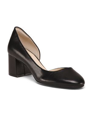 Leather D 'Orsay Comfort Pumps