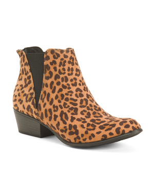 Leopard Double Gore Booties