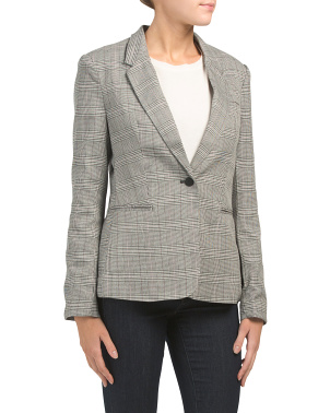 Long Sleeve Notch Collar Blazer