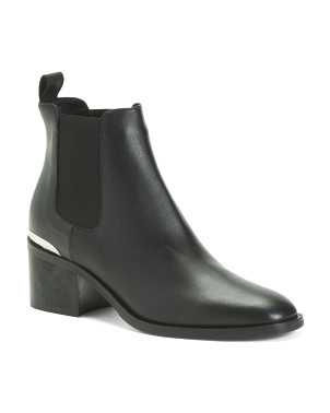 Made In Italy Leather Chelsea Boots