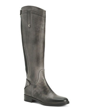 Made In Italy Leather Knee High Boots