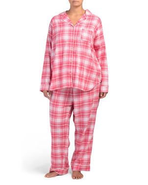 Plus Raven Plaid Pajamas Set
