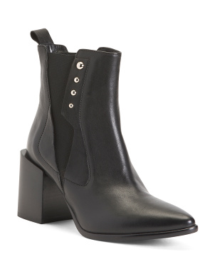 Made In Italy Pointy Toe Leather Boots